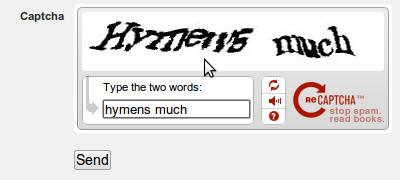 'hymens much' captcha