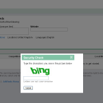 Google's 'bing' captcha