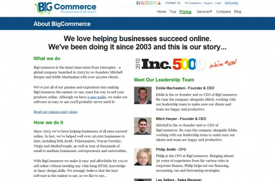 , Establishing online business credibility with 'About Us' page