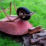 Heavy wheelbarrow