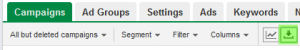 AdWords report button