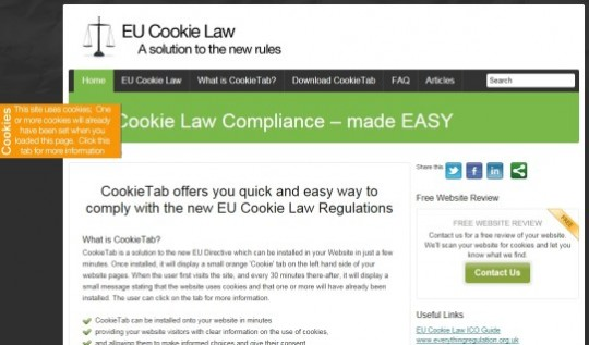 , Cookie Law implementation ideas