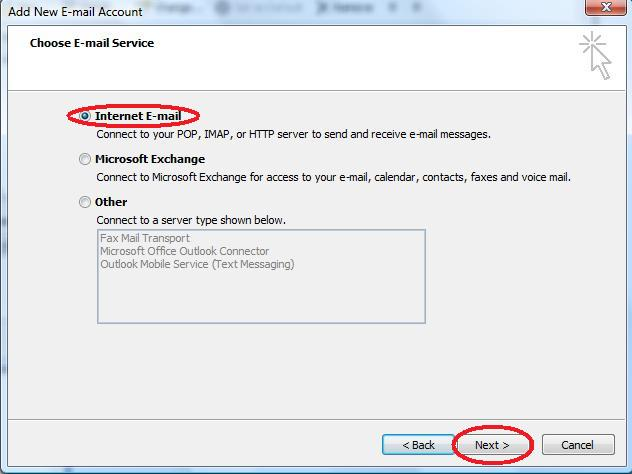 Select Internet E-mail