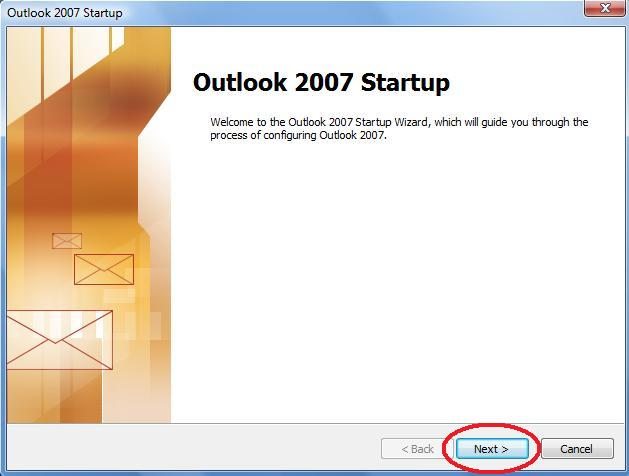 Outlook 2007 Startup
